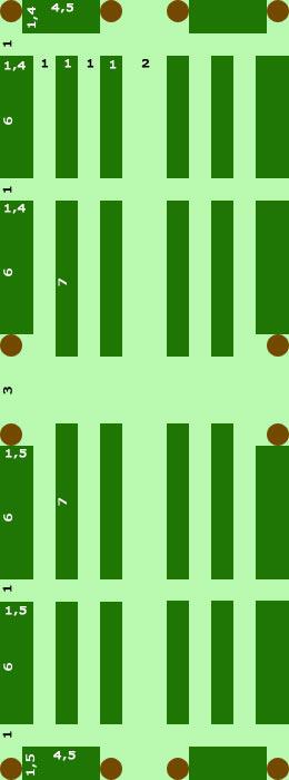 План-схема огорода