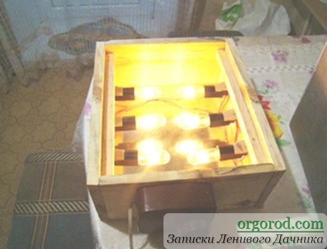 Лампа накаливания в кильчеваторе