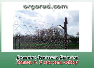 Заметка №4. У нас есть забор! И новые грядки.