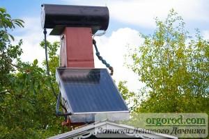 Солнечный нагреватель на даче родителей