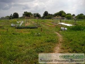 Огород после проделанной работы