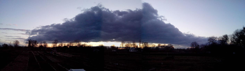 Чудное облако на небе