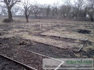 Органический сад весной